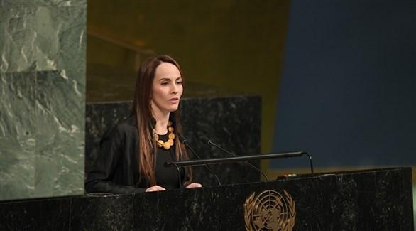 بارون في كلمة لها أمام الجمعية العامة في الأمم المتحدة