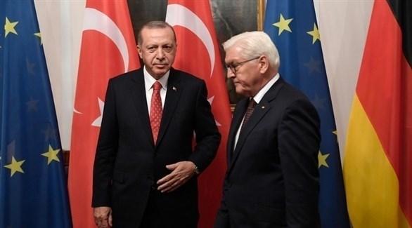 أردوغان والرئيس الألماني شتاينماير (إ ب أ)