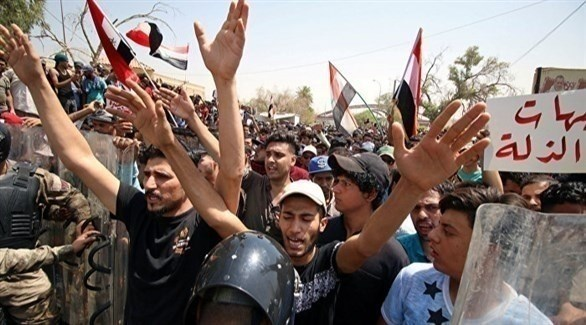 جانب من احتجاجات البصرة (أرشيف)