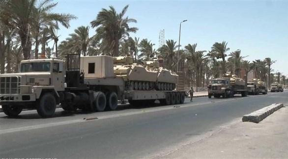 آليات عسكرية للجيش المصري في سيناء (أرشيف)