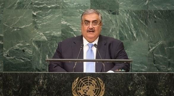وزير الخارجية البحريني خالد بن أحمد آل خليفة (الأمم المتحدة)