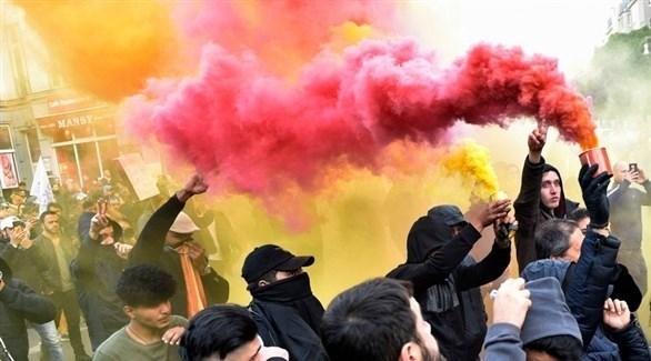 احتجاجات ضد زيارة أردوغان لألمانيا (إ ب أ)