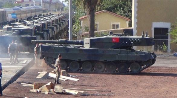 دبابات تركية من طراز ليوبارد في طريقها إلى سوريا (أرشيف)
