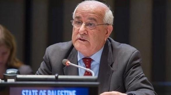 مندوب فلسطين في الأمم المتحدة، رياض منصور (أرشيف)