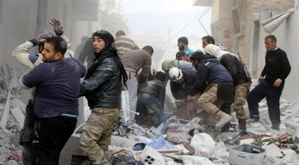 محاولات انقاذ المدنيين من غارات وبراميل النظام وحلفائه