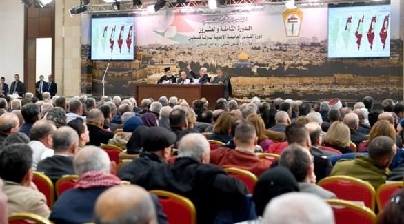 جانب من أحد جلسات المجلس المركزي الفلسطيني (أرشيف)