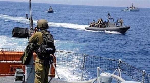 زوارق للبحرية الإسرائيلية في بحر غزة (أرشيف)