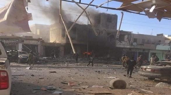 التفجير الإرهابي في محافظة الأنبار العراقية (أرشيف)