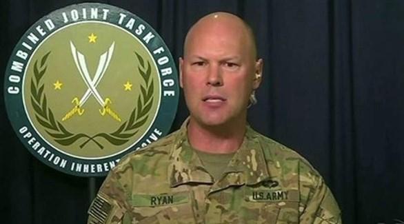 المتحدث باسم التحالف الدولي الذي تقوده الولايات المتحدة الكولونيل، شون ريان (أرشيف)
