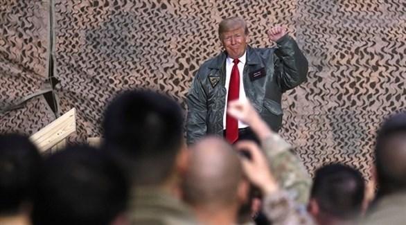 الرئيس الأمريكي دونالد ترامب في العراق (أرشيف)