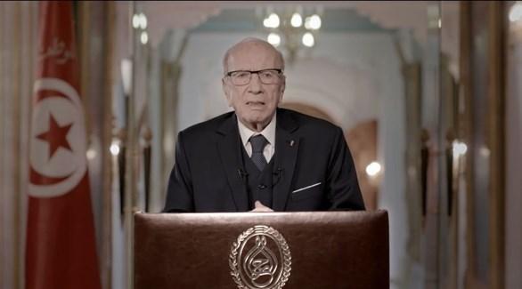 السبسي في كلمته المتلفزة (الرئاسة التونسية)