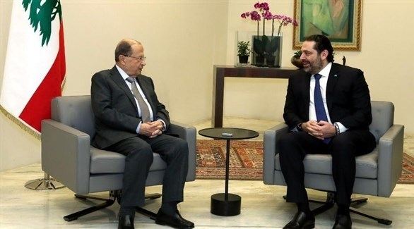 الرئيس اللبناني ميشال عون ورئيس الحكومة المكلف سعد الحريري (وكالة الأنباء اللبنانية)