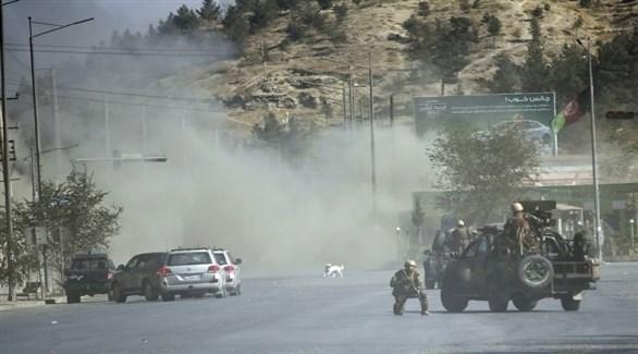 تصاعد الدخان بعد غارة جوية في أفغانستان (أرشيف)