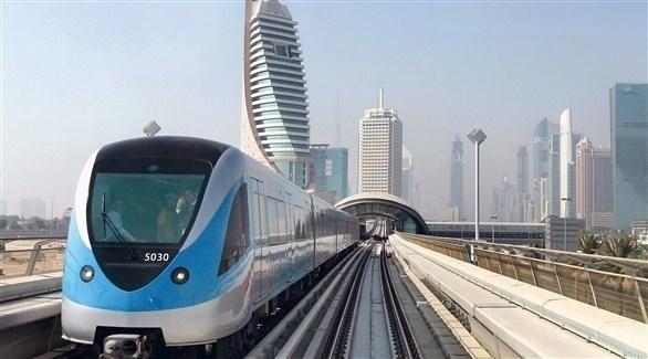 مترو دبي (أرشيف)