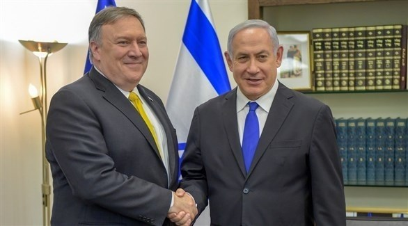 رئيس الوزراء الإسرائيلي بنيامين نتانياهو ووزير الخارجية الأمريكي مايك بومبيو (أرشيف)