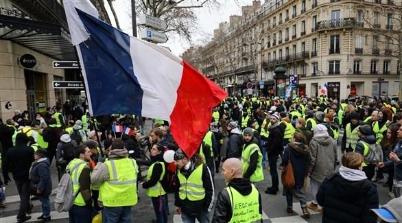 متظاهرو السترات الصفراء في باريس (أ ف ب)
