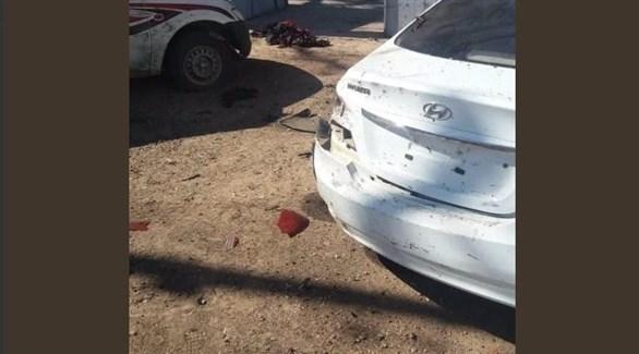 سيارات متضررة من انفجار  غدوة الليبية (تويتر)