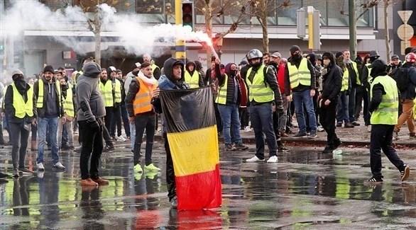 احتجاجات السترات الصفراء في بلجيكا (أرشيف)