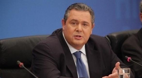 وزير الدفاع اليوناني بانوس كامينوس (أرشيف)
