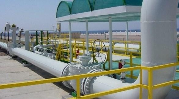 محطة ضخ الغاز عبر الخط العربي بين مصر والأردن (أرشيف)