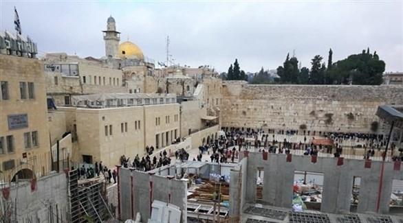 حائط البراق في القدس الذي يتخذه اليهود حائط مبكى (أرشيف)
