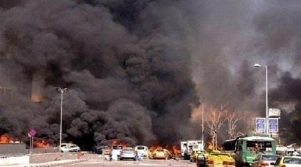 مشهد من التفجير الانتحاري في منبج (وكالات)