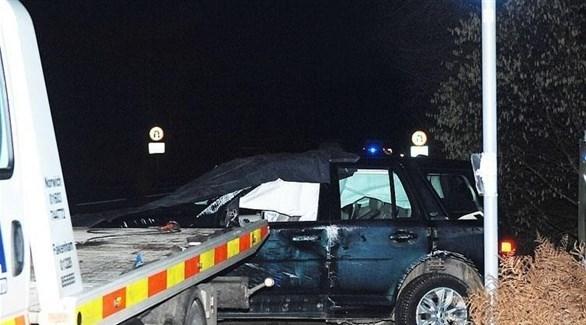 سيارة الأمير فيليب في مكان الحادث (تويتر)