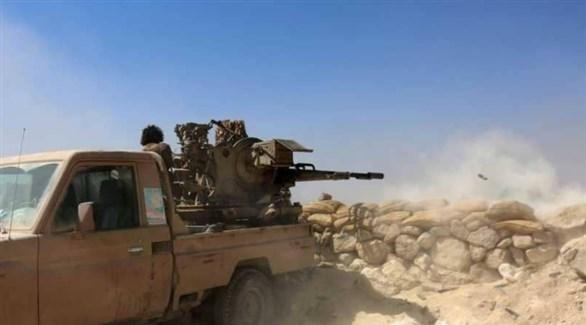 قصف مدفعي للجيش الوطني اليمني (أرشيف)