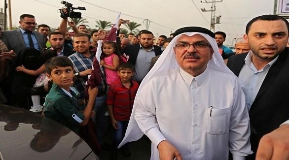 السفير القطري محمد العمادي في غزة (أرشيف)