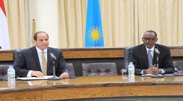 الرئيسان المصري عبد الفتاح السيسي والرواندي بول كاغامي (أرشيف)
