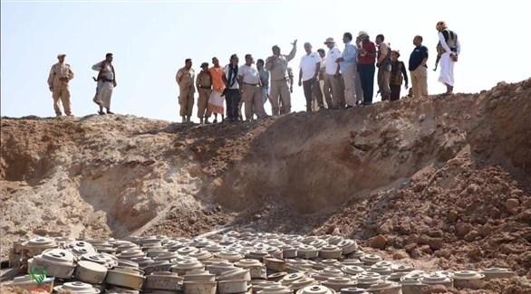 جانب من عمليات نزع الألغام باليمن (مسام)
