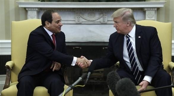 الرئيسان المصري عبد الفتاح السيسي والأمريكي دونالد ترامب (أرشيف)