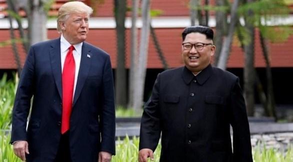زعيم كوريا الشمالية كيم والرئيس الأمريكي ترامب (أرشيف)