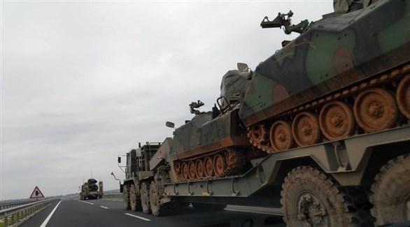 آليات عسكرية تركية تتجه إلى الحدود مع سوريا (أورينت نت)