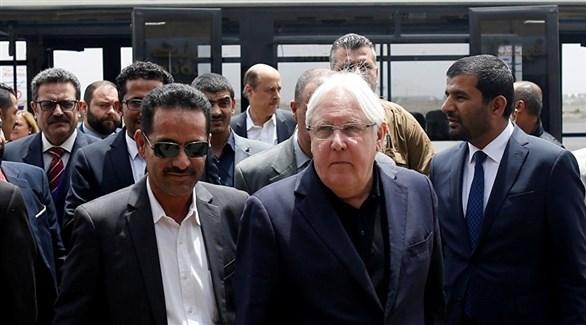 مبعوث الأمم المتحدة إلى اليمن مارتن غريفيث في صنعاء (أرشيف)