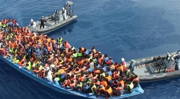 إنقاذ مهاجرين وسط البحر (أرشيف)