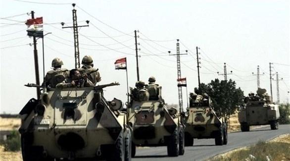 رتل عسكري للجيش المصري في سيناء (أرشيف)
