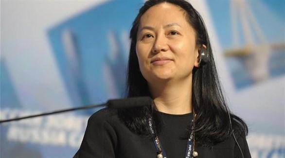 منغ وان تشو المديرة المالية لشركة هواوي (أرشيف)