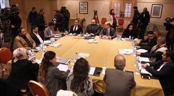 اجتماع لممثلين عن الحكومة اليمنية والميليشيات الحوثية في الأردن (أرشيف)