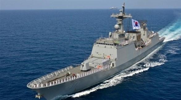 صورة جوية لمدمرة تابعة للبحرية في جيش كوريا الجنوبية (أرشيف)