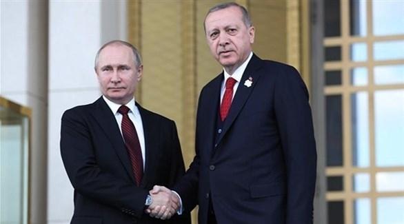 الرئيسان التركي رجب طيب أردوغان ونظيره الروسي فلاديمير بوتين (أرشيف)