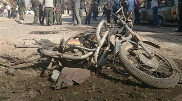 الدراجة النارية التي استخدمت بالتفجير (المرصد)