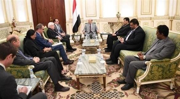 جانب من اللقاء (وسائل إعلام يمنية)