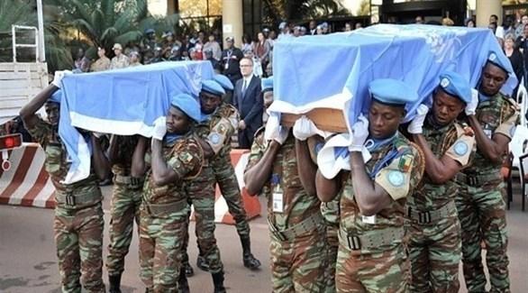 نعوش جنود من قوات حفظ السلام في مالي (أرشيف)