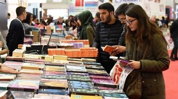 من معرض كتاب في مدينة إسطنبول التركية (أرشيف)