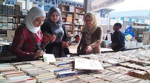 مصريات في احد أجنحة معرض القاهرة الدولي للكتاب (أرشيف)
