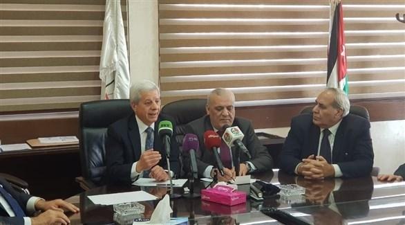 مؤتمر صحفي بين نقيب المحامين السوريين ونظيره الأردني (من المصدر)