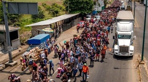 مهاجرون في طريقهم إلى الولايات المتحدة (أرشيف)