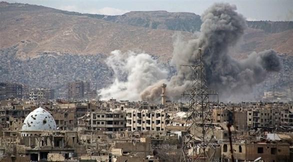 دخان متصاعد من غارات على سوريا (أرشيف)