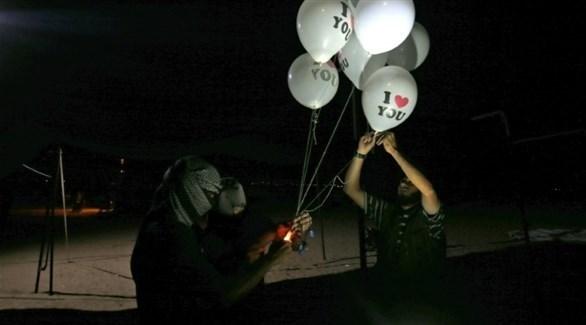 إطلاق البالونات الحارقة في غزة (أرشيف)